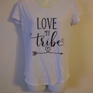 ⛄ City Streets Love My Tribe White Blouse Size XS
